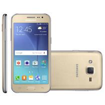 Smartphone Samsung Galaxy J2 Tv Duos Dourado 2 Chips Quad Co