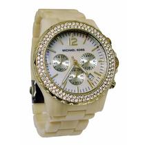Relógio Luxo Michael Kors Mk5558 Madrepérola Novo Grande