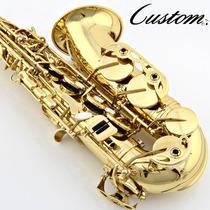 Saxofone Alto Laqueado Eb Custom Sax Mi Com Case