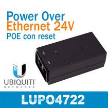 Poe Activo 24volt 1amp Ubiquiti X Equipos Wifi Boton Reset