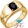 Sortija De Hombre En Oro Fino 18k Piedra Onix Mod 1 Oferta