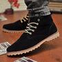Zapatos De Hombre Botas Casual Cuero Sintético