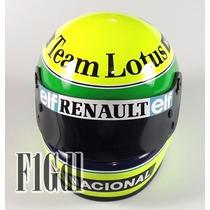 F1 Ayrton Senna Mini Casco Escala 1/2 Team Lotus Año 1985