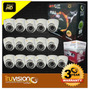 Kit Video Vigilancia Cctv Dvr 16 Canales+ Camaras Hd