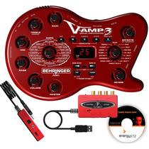 Vamp3 Pedaleira Multiefeitos Behringer Vamp 3 V-amp 3 Uca222