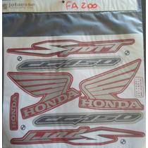 Jogo Faixa Titan 150 Sport 2005 (vermelha) Fa200