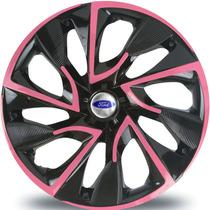 Jogo Calota Aro 15 Ds4 Pink Ka Fiesta Focus Escort Ford