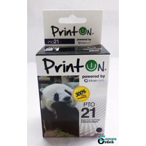 Cartucho Compatible Hp 21 Xl Negro Printon