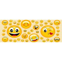 Tecido 100% Algodão, Com Diversos Emojis Expressivos.