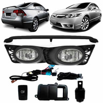 Kit New Civic Si 2009 A 2011 Aerofolio + Kit Farol Milha