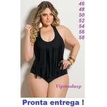 Maiô Franja Tamanho Grande Especial Plus Size Franja Ou Bojo