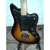 Fender Jazzmaster Blacktop Mexico Con Estuche Permuto