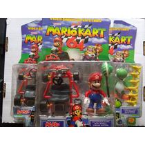 Figuras Mario Kart 64 Nuevas Toy Biz Mario Yoshi Bowser Trqs