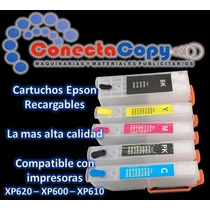 Cartuchos Recargables Epson Para Sistema Xp 620-600-610