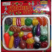 Juego De Comida-cocina De Juguete Para Niña-niño 21 Piezas