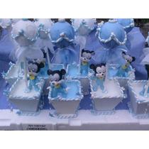 Mickey Y Minnie Bebe En Porcelana Fria