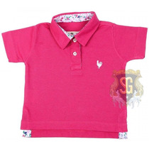 Camisa Polo Infantil Rosa Pink Menina 6149 - Jaum Jaum