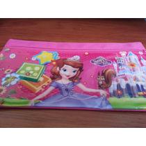 Cartuchera Escolar Para Niñas De La Princesa Sofia Rosada
