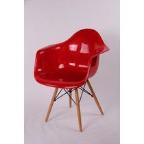 Cadeira Charles Lamar - Base Madeira - Assento Abs Colorido
