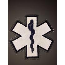 Parche Emergencias Reflejante Paramedico Bombero Medico
