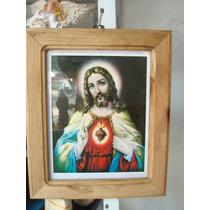 Cuadro Sagrado Corazón De Jesús 29x32 A Tan Solo $80.00