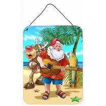 Navidad De La Playa De Santa Claus Tiempo De La Isla En La P