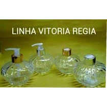 10 Vidro 230ml Vitoria Regia Com Tampa Difusor +varetas