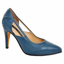 Zapatos De Cuero -zapatos Mujer, Taco 7 Y 9