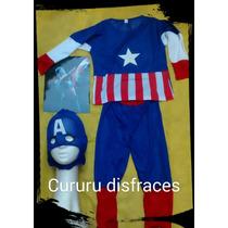 Disfraz Capitan America Avengers Spiderman Negro Rojo Araña