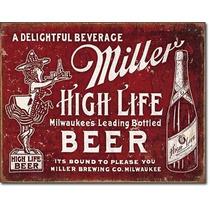 Poster Decorativo Anuncio Lamina Cerveza Miller Hecha Para S