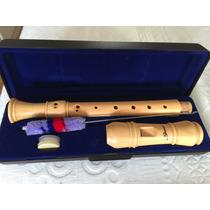 Flauta Doce Macica De Madeira Germanica Profissional