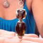 Pendulos Egipcios Y Especiales Onix Ahumado Obsidiana 6 Cm