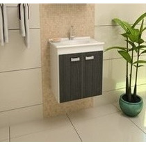 Gabinete Banheiro Palermo C/ Kit Hidráulico Sem Espelheira