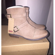 Zapatos T/ Botines Piel Levis Ciclope L224042 Cafe Hombre