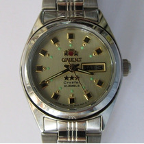 Relógio Pulso Orient Feminino Automático Caixa Aço