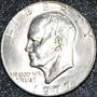 Cumpleaños 1977 Moneda Espejo Chapa Plata Usa Eisenhower Ggv