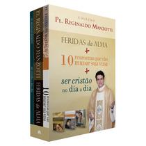 Box Caixa 3 Livros Padre Reginaldo Manzotti - Novo Coleção