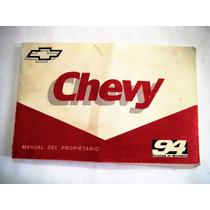 Manual Propietario Chevy 1994