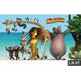 Madagascar Painel 3,00x1,70m Lona Aniversario Decoração Fest