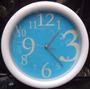 Reloj De Pared Azul 30cm Cuarto Casa Oficina Decorativo