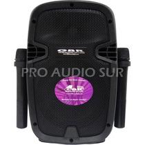 Bafle Potenciado Bateria Recargable 1050 2 Microfonos Vhf Fm