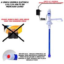 Bomba Agua Galão 20 Litros Elétrica 110/220 V Não Usa Pilhas