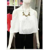 Top Babado Regata Cropped Morcego Cigana Blusa Cropped Promo
