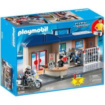 Playmobil Estación De Policía Maletín 5299 4 A 10 Años