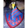 Adorno, Central Para Torta Club De Futbol En Porcelana Fria
