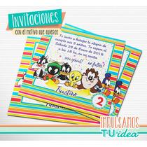 Baby Looney Tunes - Invitación Para Imprimir