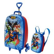 Mochila Escolar Mochilete 3d Liga Da Justiça Superman Maxtoy
