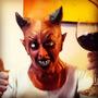 Mascara Halloween Latex Diablo