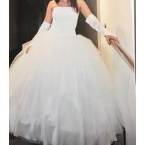 Vestido De 15 Dos En Uno; Incluye Mitones/enagua.impecable.