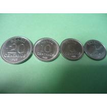 Moedas De 1 / 5 / 10 / 20 Centavos De 1988 Sob/fc Lindas